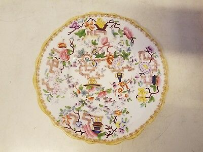 """Antique Minton Porcelain Plate with """"Chinese Tree"""" Pattern"""