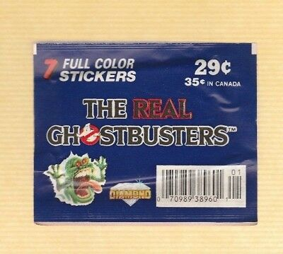 1986  Vintage Diamond The Real Ghostbusters Stickers Unopened Pack