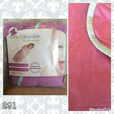 Miracle Blanket Swaddle Purple With Teal Trim