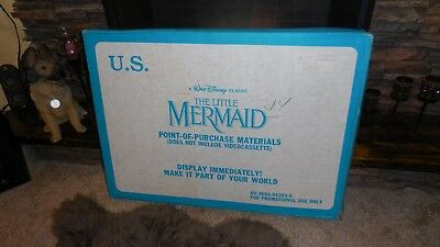 Disney's The Little Mermaid VHS Movie Video Store Display STANDEE See Photos
