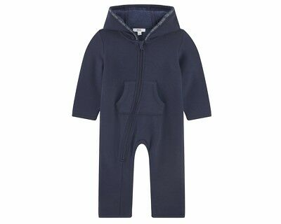 Sale Hugo Boss J96073 849 Baby's Hooded Longall Navy Romper Boy's Playsuit