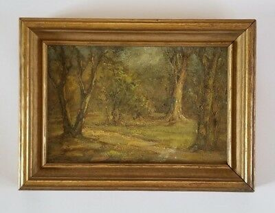 Antique Early 20th Century American California Plein Air Landscape Oil Painting