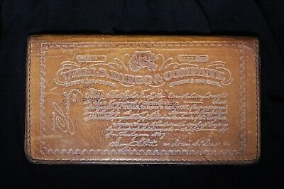 Vintage Wells Fargo & Company Embossed Leather Checkbook Cover