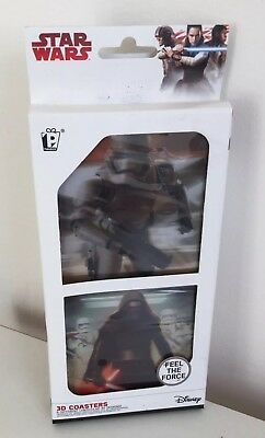 Star Wars 8 x Different Lenticular 3D Coasters Brand New