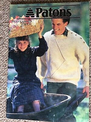 Vintage Patons Knitting Pattern Book 826 Men's Fashion 8 Ply & 12 Ply Featured