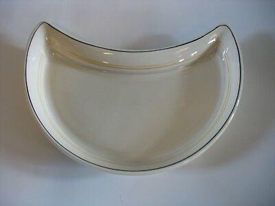 3 Ivory Ware Side Salad Plate Maddock Cunard SteamShip RMS Queen Mary Elizabeth