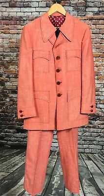 VTG 1970's Jacques Dupre Two Piece Suit Landon's Omaha Canada Pink Polka Dot