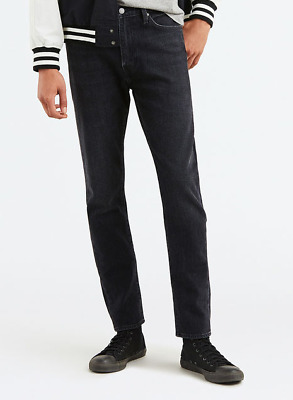 Genuine LEVIS 510 PREMIUM Skinny Fit Stretch Mens Jeans Black Grey wash effect