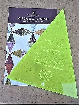 Large Simple Wedge Template & Wedge Diamond Pattern Missouri Star Quilt Co New