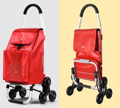 E99 Rugged Aluminium Luggage Trolley Hand Truck Folding Foldable Shopping Cart