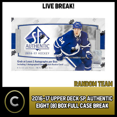 2016-17 Upper Deck Sp Authentic - 8 Box Full Case Break #h141 - Random Teams