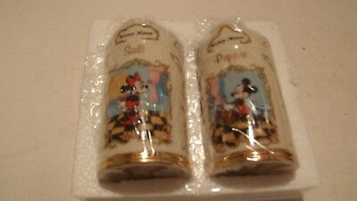 """lenox"" Disney Mickey & Minnie Salt & Pepper Shakers. New In Package."