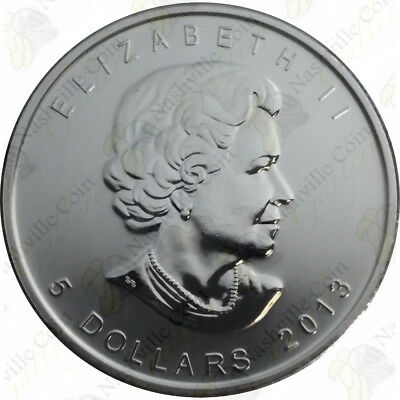 2013 Canadian Silver Maple Leaf — 1 Oz — Uncirculated — Sku #12025