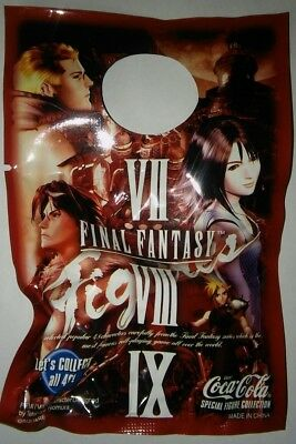 Final Fantasy Coca Cola Figure 7 8 9 Old Unopened Rare Sealed Collectors Gifts