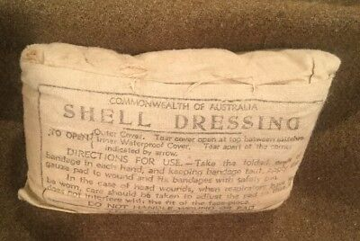 WW2 Australian Military Army Medical First Aid Medic Large Shell Dressing 1943