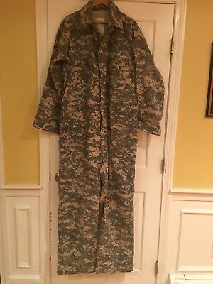 8da07fdeed0 NWOT Military US Army issue mechanics coveralls universal camouflage Large  ACU