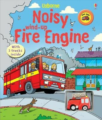 NEW Noisy Wind-Up Fire Engine By Sam Taplin Novelty Book Free Shipping