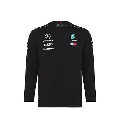 2018 Mercedes AMG F1 Team Long Sleeve Top T Shirt Tee Hamilton MENS New OFFICIAL