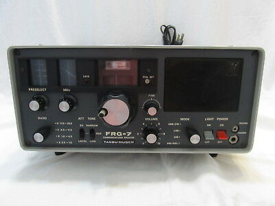 Vintage FRG-7 Yaesu Musen Communications Receiver Shortwave Ham Radio Works