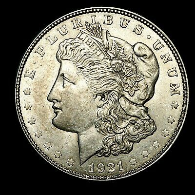 1921 D ~**ABOUT UNCIRCULATED AU**~ Silver Morgan Dollar Rare US Old Coin! #Z15