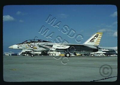 35mm Kodachrome Aircraft  Slide - F-14A Tomcat BuNo 159449 AE212 VF-142 DEC 1976