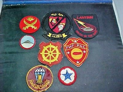 8 US & Unknowm Patches. Some Are Bulliom, Some Are Theater Made