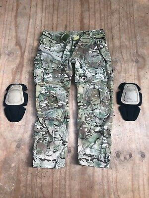 Platatac Multicam combat pants with knee inserts. 90-95 waist, short leg, used