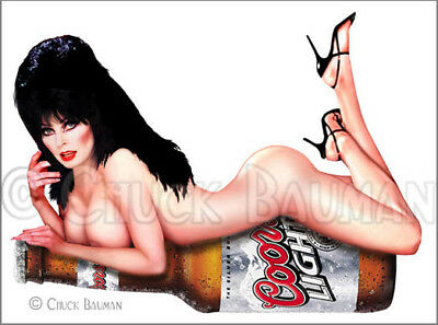 Fridge Magnet Sexy ELVIRA COORS  fan art macabre horror hooters pin-up girl art