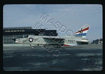 35mm Kodachrome Aircraft  Slide - F-8K Crusader BuNo 146909 JH5 VC-10 - OCT 1972