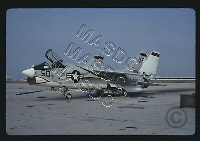 35mm Kodachrome Aircraft  Slide - F-8H Crusader BuNo 147904 XF50 VX-4 - Dec 1970