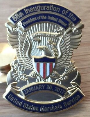 USMS - US Marshals Service 2017 58th Inauguration Lapel Pin