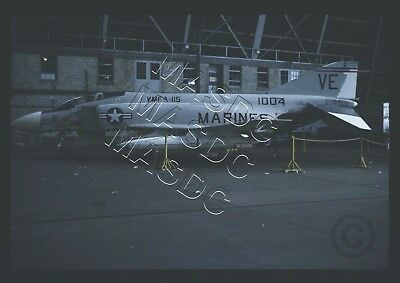 35mm Kodachrome Aircraft Slide - F-4B Phantom BuNo 151004 VE6 VMFA-115 - Sep '64