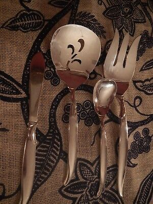 Flair 1847 Rogers Bros Silverplate flatware tomato server meat fork sugar butter