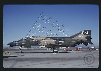 "35mm Kodachrome Aircraft Slide - F-4C Phantom 63-7655 ""DM"" 4453rd CCTW - July 70"