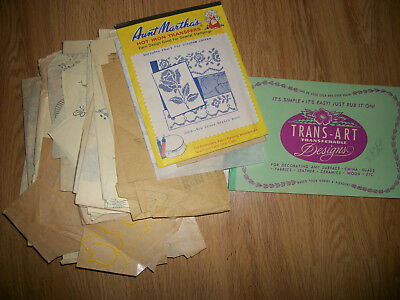 Vintage Lot of Embroidery Iron On Transfers