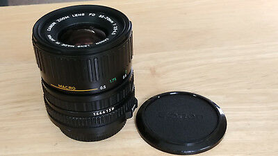 Canon Zoom Lens FD 35-70mm F3.5-4.5 Camera Macro Lens Made in Japan
