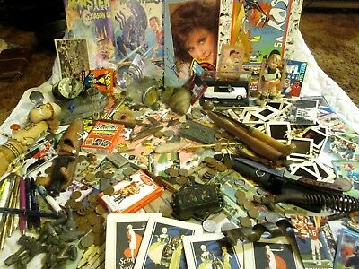 Junk Drawer Lot coins Knives Old Post Cards Jewelry Collectables