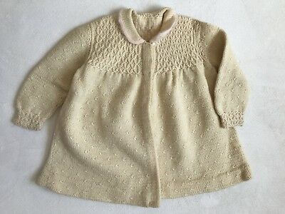 Child's Vintage Crocheted Smocked Sweater Sz 5