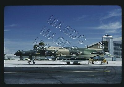 "35mm Kodachrome Aircraft Slide - F-4E Phantom 67-0349 307TFS ""ZF"" @ MacDill 1974"