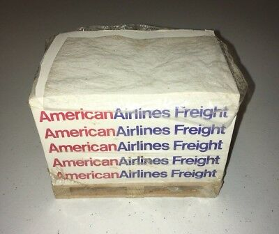 American Airlines Freight Notepad Pallet Skid / Labeled Notepad Stack