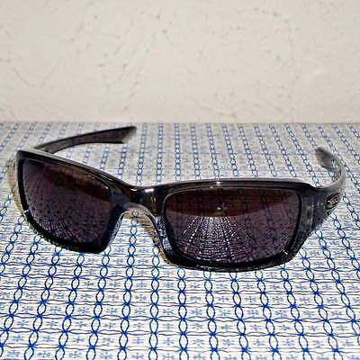 New Oakley Fives Squared OO9238-05 Black Rectangle Sunglasses