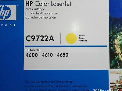 New Genuine HP Color LaserJet C9722A Yellow, for 4600,4610 & 4650.Made in Japan