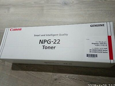 New Genuine Canon NPG-22 Magenta Toner. Made in Japan