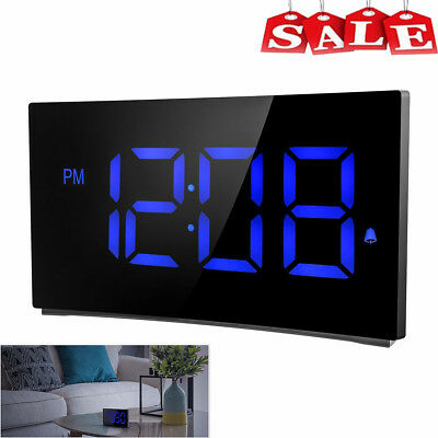 "5"" Digital LED Alarm Clock Dual Alarm Snooze Adjustable Brightness Sound Control"