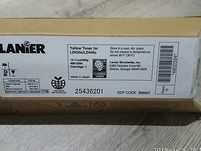 New Genuine  Lanier Yellow Cartridge for LD435c/LD445c, Made in Japan
