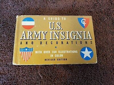 Original WW2 Guide to US Army Insignia, by Gordon A Petersen, 1942, 2nd Edition
