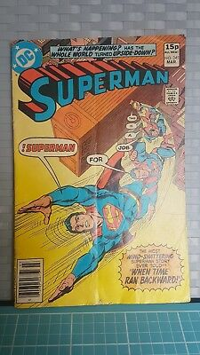 Superman Comic Issue 345. March 1980. U.k. rear cover ad for Star Trek movie