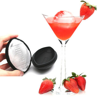 Football Shape Silicone Ice Cube Mold Cocktails Whiskey Ball Party Bar Tools