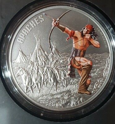 Warriors Of History - Apaches Silver Coin