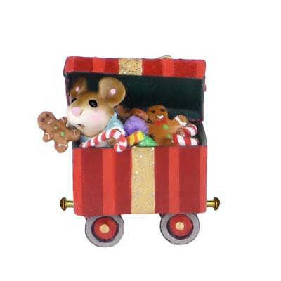"""Wee Forest Folk M-453g """"Christmas Candy Box Car"""" Retired"""